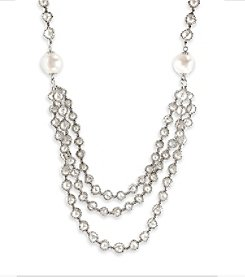 Effy® 925 Collection Freshwater Pearl Necklace in Sterling Silver
