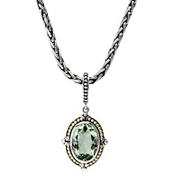 Effy® 925 Collection Green Amethyst Pendant in Sterling Silver