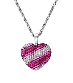 Effy® 925 Collection Shades of Pink Sapphire Heart Pendant in Sterling Silver