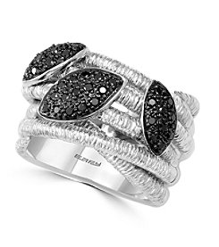 Effy® 925 Collection 0.42 ct. tw. Black Diamond Ring in Sterling Silver