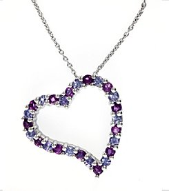 Effy® Amethyst and Tanzanite Pendant in 14K White Gold
