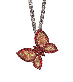 Effy® 925 Collection Shade of Red Sapphire Butterfly Pendant in Sterling Silver