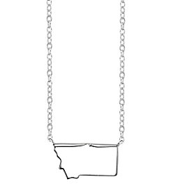 LArocks® Sterling Silver Montana State Necklace