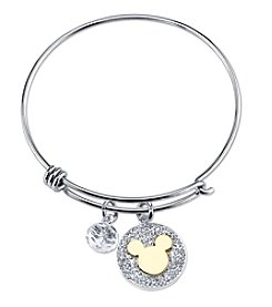 Disney® Mickey Mouse® Crystal Charm Bangle Bracelet