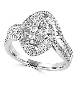 Effy® Classique Collection 1.03 ct. tw. Diamond Ring in 14K White Gold