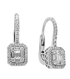 Effy® Classique Collection 0.86 ct. tw. Diamond Earrings in 14K White Gold