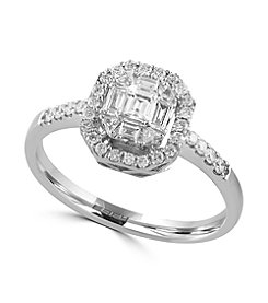 Effy® Classique Collection 0.44 ct. tw. Diamond Ring in 14K White Gold