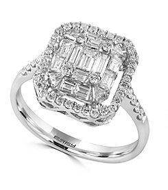 Effy® Classique Collection 0.96 ct. tw. Diamond Ring in 14K White Gold