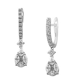 Effy® Bouquet Collection 0.94 ct. tw. Diamond Earrings in 14K White Gold