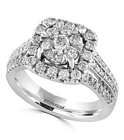 Effy® Bouquet Collection 1.40 ct. tw. Diamond Ring in 14K White Gold