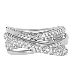 Effy® Pave Classica Collection 0.40 ct. tw. Diamond Ring in 14K White Gold