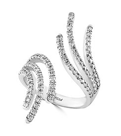 Effy® Pave Classica Collection 0.74 ct. tw. Diamond Ring in 14K White Gold