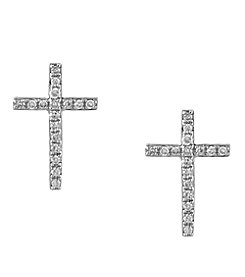 Effy® Pave Classica Collection 0.11 ct. tw. Diamond Earrings in 14K White Gold