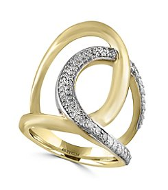 Effy® D'Oro Collection 0.41 ct. tw. Diamond Ring in 14K Yellow Gold