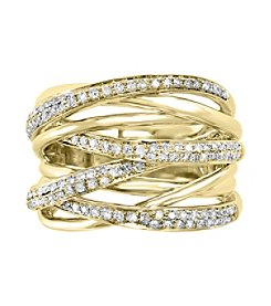 Effy® D'Oro Collection 0.53 ct. tw. Diamond Ring in 14K Yellow Gold