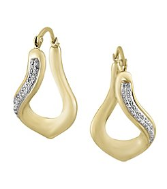 Effy® D'Oro Collection 0.19 ct. tw. Diamond Earrings in 14K Yellow Gold