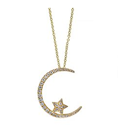 Effy® D'Oro Collection 0.50 ct. tw. Diamond Pendant in 14K Yellow Gold