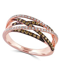 Effy® Espresso Collection 0.47 ct. tw. Diamond Ring in 14K Rose Gold