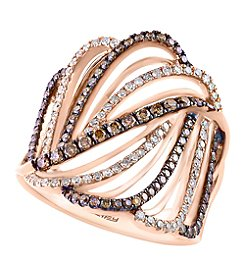 Effy® Espresso Collection 0.84 ct. tw. Diamond Ring in 14K Rose Gold