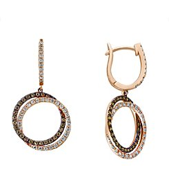 Effy® Espresso Collection 1.17 ct. tw. Diamond Earrings in 14K Rose Gold