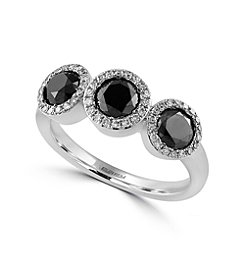 Effy® Caviar Collection 1.45 ct. tw. Diamond Ring in 14K White Gold
