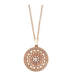 Effy® Pave Rose Collection 0.25 ct. tw. Diamond Pendant in 14K Rose Gold