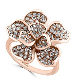 Effy® Pave Rose Collection 1.36 ct. tw. Diamond Ring in 14K Rose Gold
