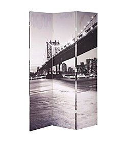 Acme Trudy 3-Panel Bridge Scenery Wooden Screen