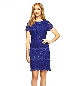 Alex Evenings Lace Short Triple Tier Dress