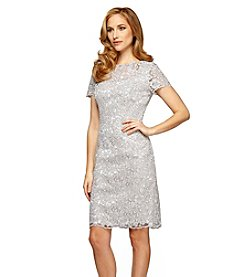 Alex Evenings® Short Illusion Neckline Dress