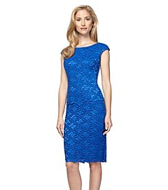 Alex Evenings Classic Lace Cap Sleeve Dress