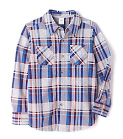 Mix & Match Boys' 2T-7 Long Sleeve Plaid Shirt