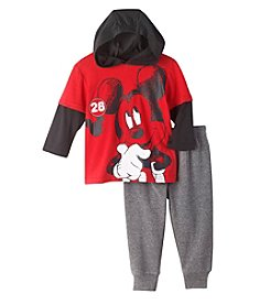 Disney® Baby Boys Layered Mickey Hoodie And Joggers Set
