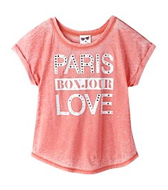 Belle du Jour Girls' 7-16 Short Sleeve Paris Tee