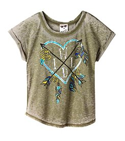 Belle du Jour Girls' 7-16 Short Sleeve Wild Heart Tee