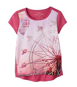 Jessica Simpson Girls' 7-16 Short Sleeve Marie Ferris Wheel Tee