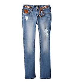 Squeeze® Girls' 7-16 Embroidered Bootcut Jeans