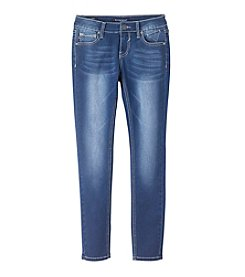 Vigoss® Girls' 7-16 Owl Embellished Back Pocket Skinny Jeans