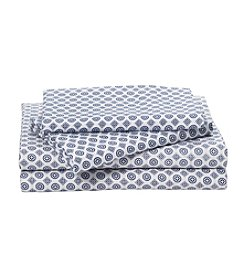 LivingQuarters Heavy-Weight Foulard Patterned Flannel Sheet Set