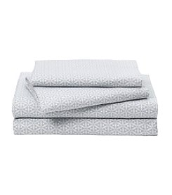 LivingQuarters Heavy-Weight Tile Patterned Flannel Sheet Set