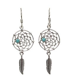 Marsala Sterling Silver Dreamcatcher Drop Earrings