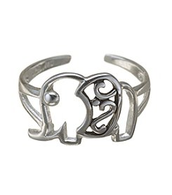Marsala Sterling Silver Elephant Toe Ring