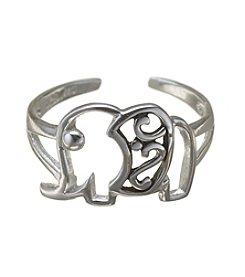 Marsala Sterling Silver Elephant Toe Ring