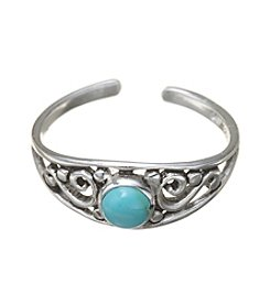 Marsala Sterling Silver Turquoise Toe Ring