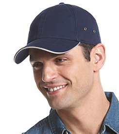 LAKE of the ISLES® Men's Chino Sandwich Baseball Cap With Metal Side Eyelets
