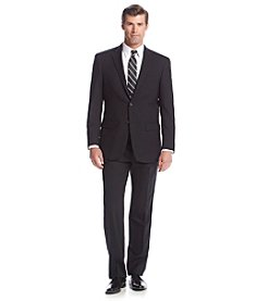 Hart Schaffner Marx® Men's Big & Tall Black Herringbone 2-Button Suit