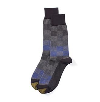 GOLD TOE® Men's Lumberjack Check Dress Socks