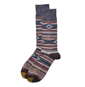 GOLD TOE® Men's Denim Stripe Dress Socks