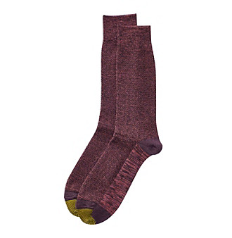 GOLD TOE® Men's Plum Dress Socks