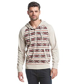 Ruff Hewn Men's Long Sleeve Colorblock Printed Hoodie